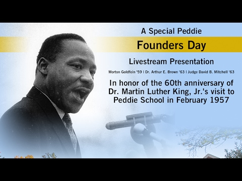 Peddie Founders Day - Remembering MLK at Peddie School
