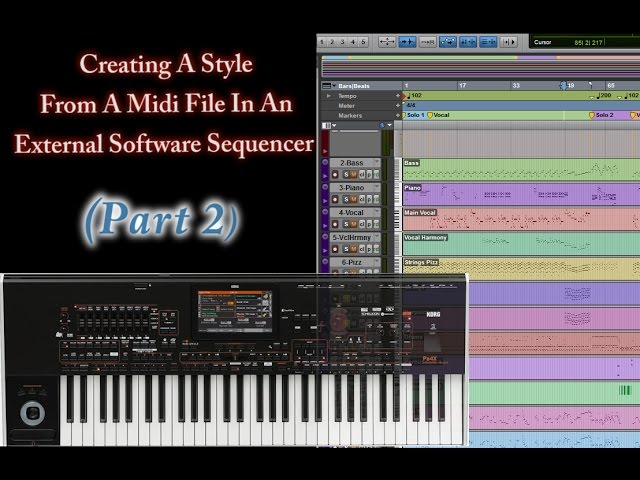 Part 2-Creating Style from Midi in a DAW (Korg Arranger Keyboards)