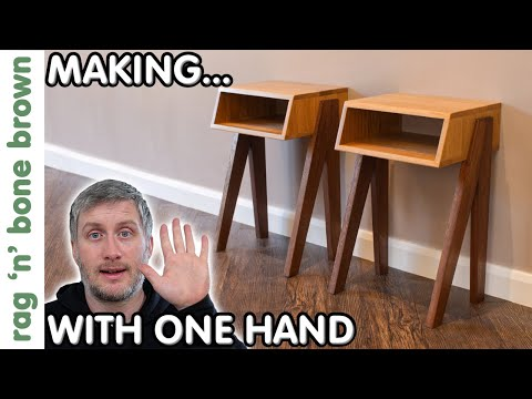 Making Bedside Tables / Night Stands : ONE HAND CHALLENGE