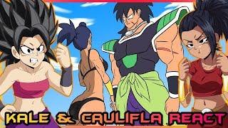 Kale and Caulifla React to BROLY VS KALE, Dragon Ball Parody