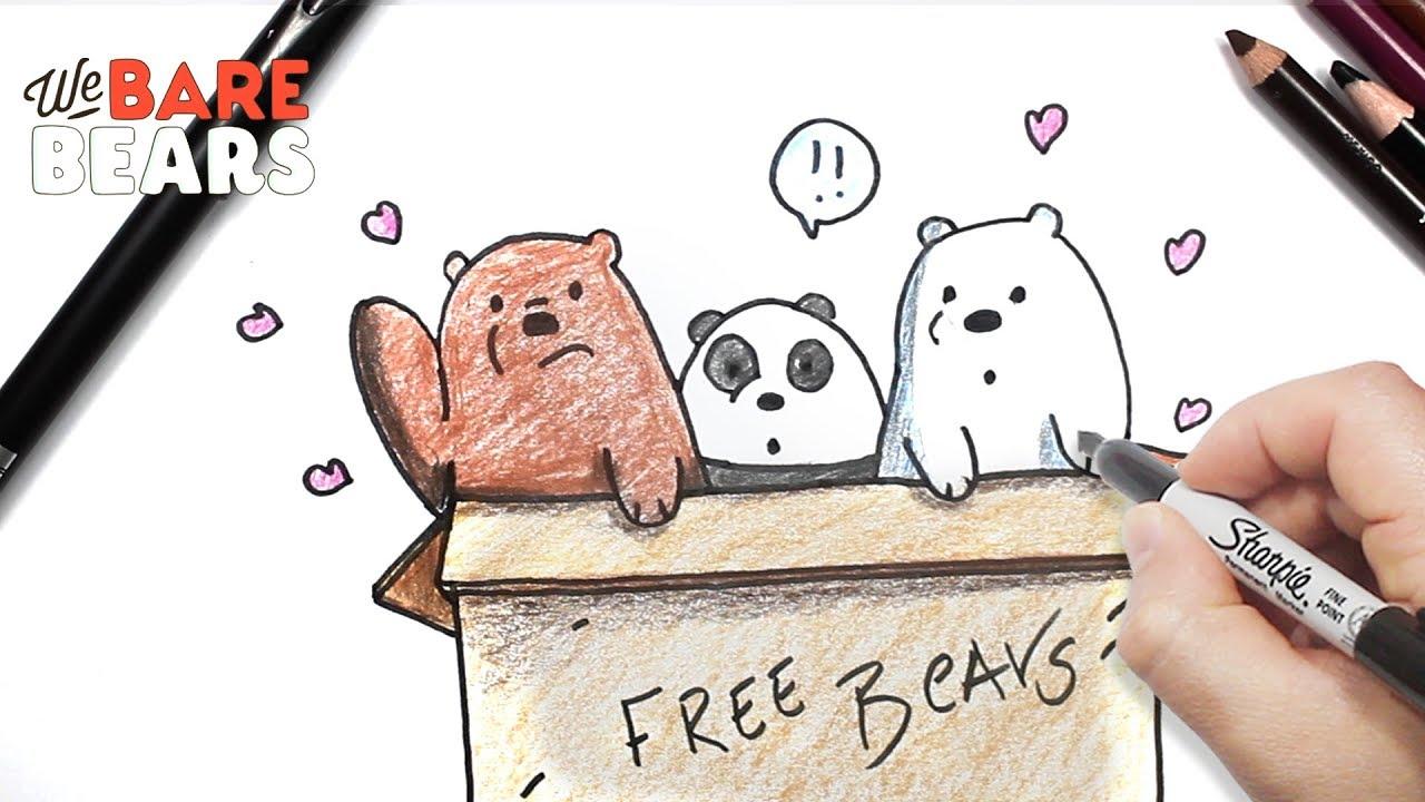 الدببة الثلاثة رسم قطبي شهاب وبندا بالخطوات تعليم الرسم Youtube