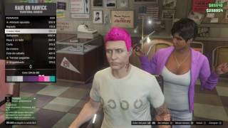 Grand Theft Auto V cambiandome de color de pelo