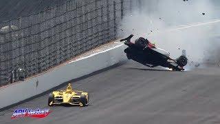Patricio O'Ward Crash 2019 Indy 500 Practice