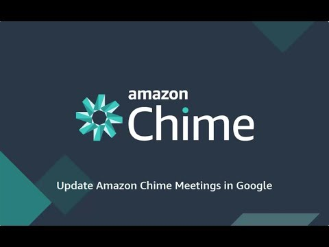 Update Amazon Chime Meetings in Google Calendar