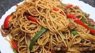 Chicken Vegetables Spaghetti | Restaurant se Ziyada Tasty | Yasmin Huma Khan