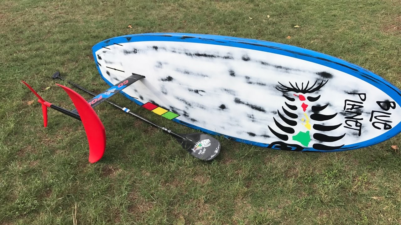 Testing the Go Foil Kai Foil, learning how to Foil on a SUP