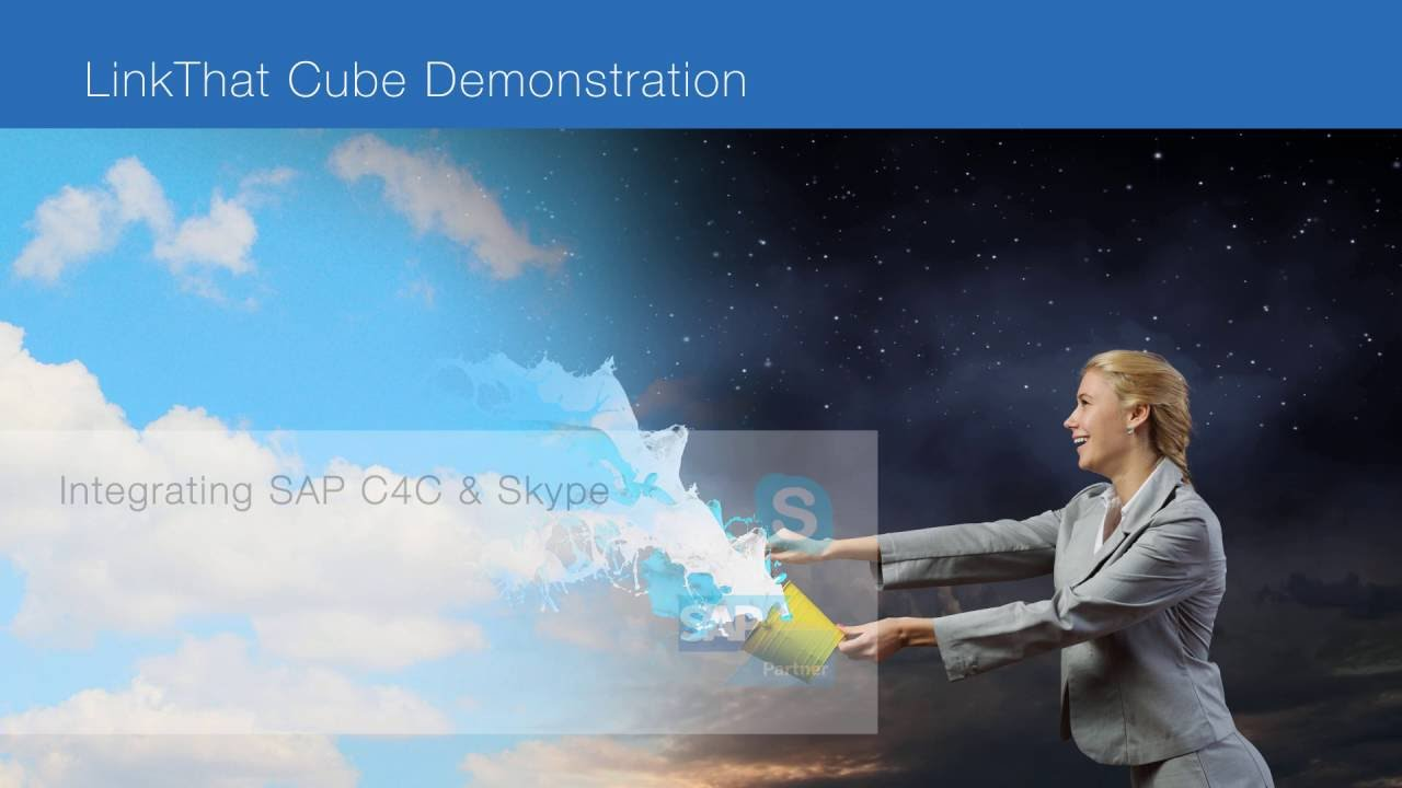 Integrating SAP Cloud for Customer & Skype for Business - LinkThat Cube CTI  Middleware