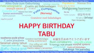 Tabu   Languages Idiomas - Happy Birthday