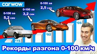 Автомобили с самым БЫСТРЫМ разгоном 0-100 км/ч!
