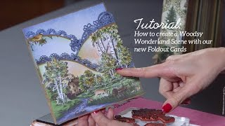 EZ Technique to Create a Nature Scene with Foldout Cards -Woodsy Wonderland