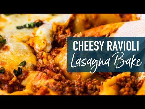 Cheesy Ravioli Lasagna Bake