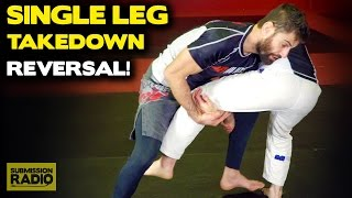 How To Reverse a Single Leg Takedown (End Up On Top!) | BJJ