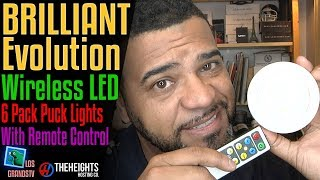 Brilliant Evolution Wireless LED Pucks w/ Remote💡 : LGTV Review