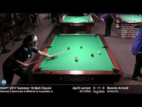 April Larson vs Bonnie Arnold  NAPT 2017 Summer 10Ball Classic