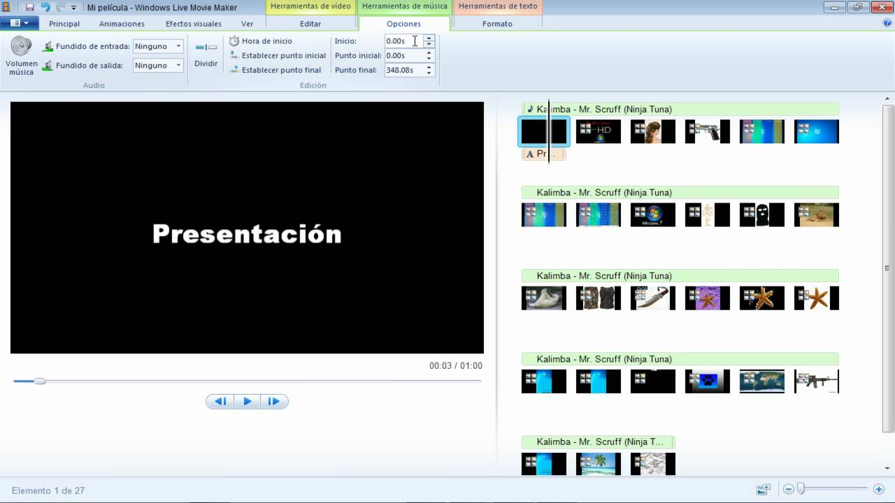 editar videos windows live movie maker espanol