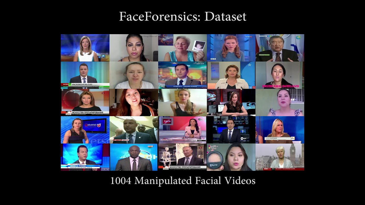 FaceForensics: A Large-scale Video Dataset for Forgery Detection in Human  Faces