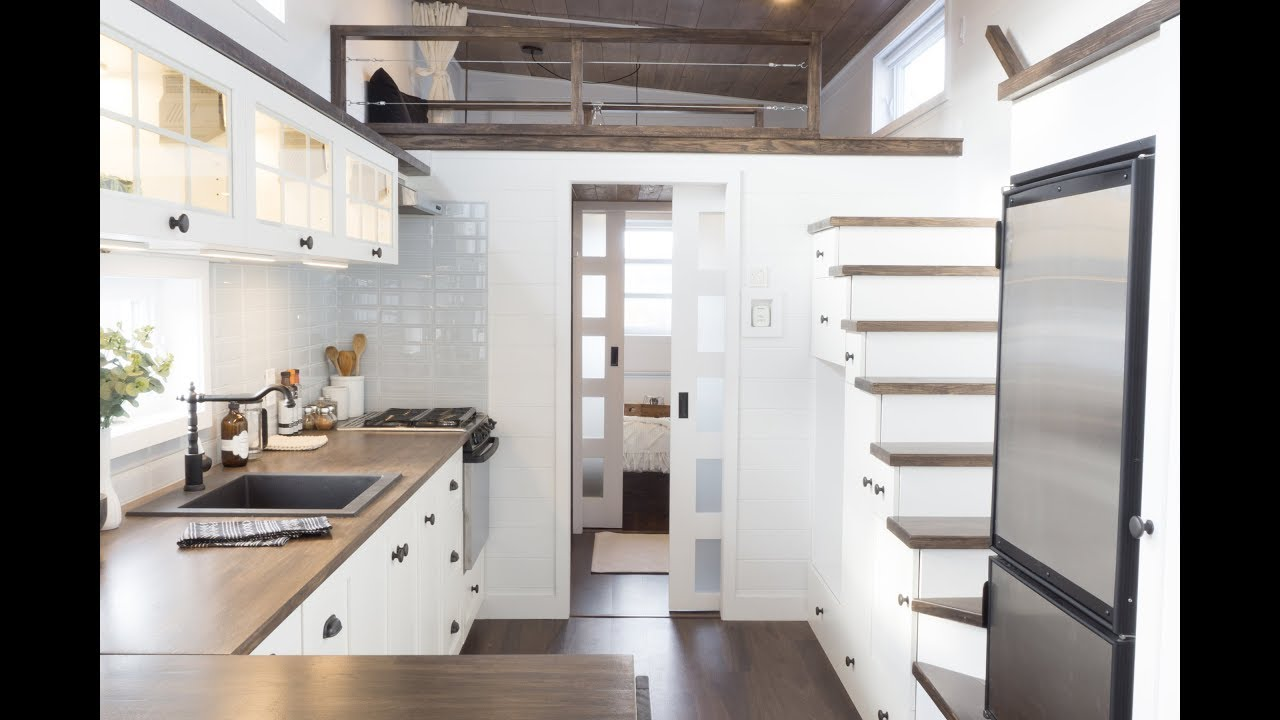 The Laurier, Luxurious Offthegrid tiny house on wheels - YouTube
