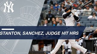 Stanton, Sanchez, Judge all homer in the Bronx