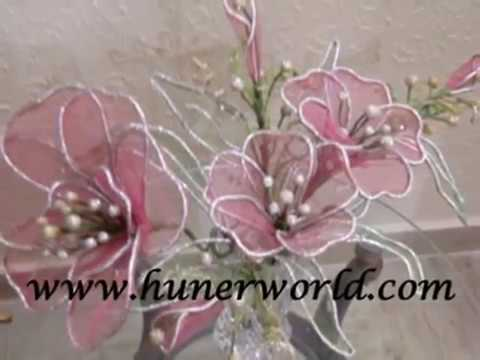 Flower Making Net Clay Dough Flower Dry Arrangement Tips Youtube