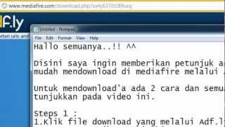 cara mendownload di mediafire dari adf ly