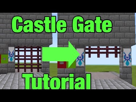 How To Make A Castle Gate In Minecraft Pe / Mcpe