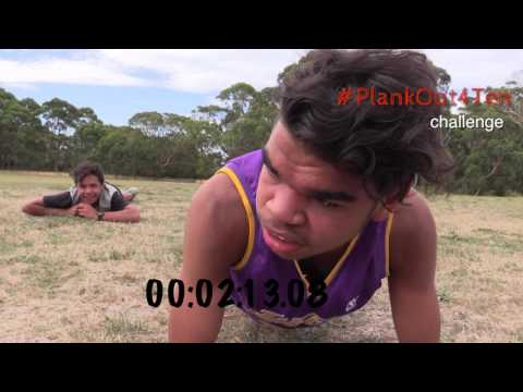 #PlankOut4Ten challenge at Cape Conran Youth Camp