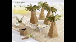 Tropical Wedding With Palm Tree Design