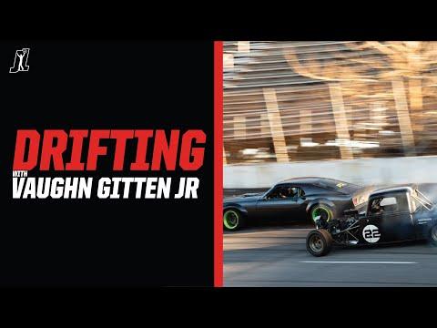 Backroads drifting around historic NASCAR racetrack with Vaughn Gittin Jr