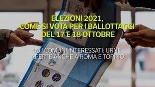 Elezioni 2021, come si vota per i ballottaggi del 17 e 18 ottobre