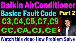 Daikin dc inverter ac error code EA,C7,C9,J2,F3 & more solve problem
