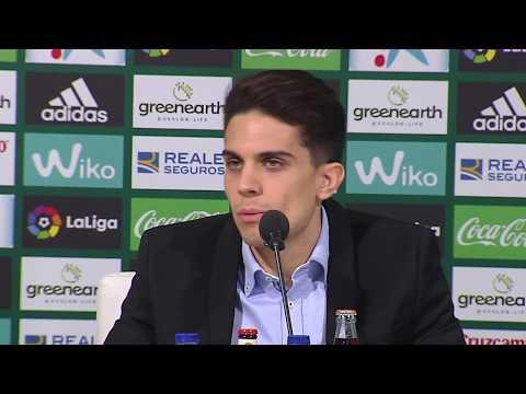 Marc Bartra es presentado en el Real Betis Balonpié
