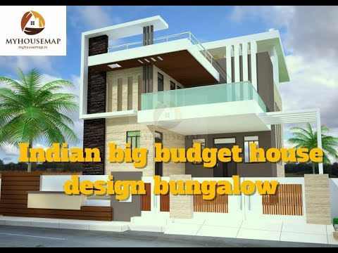 Indian Big Budget House Design Bungalow Best Of Aug 2017