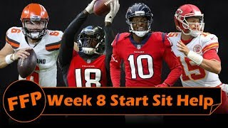 Fantasy Football 2018 Start Sit Help Week-8