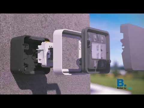 Розетки и выключатели уличные накладные berker W.1