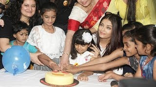 Aishwarya Rai With CUTE Daughter Aaradhya At Late Father Krishnaraj