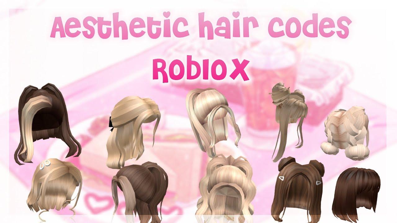 30 Aesthetic Hair Codes Roblox Youtube