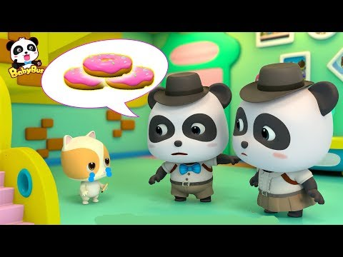 Did Kitten Timi Take the Donuts?  |  Baby Panda Detective | Kids Pretend Play | BabyBus Song