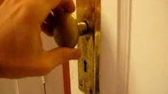 Old Mortise Lock Door Hardware: Step #1 - Removing Hardware