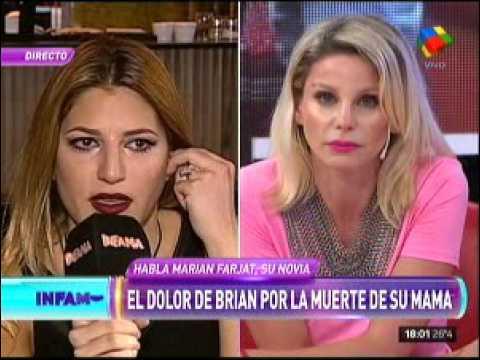 Marian Farjat, destrozada tras la muerte de la mamá de Brian