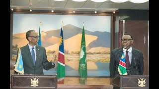 Joint Press Conference with President Hage Geingob and President Kagame | Windhoek, 20 August, 2019