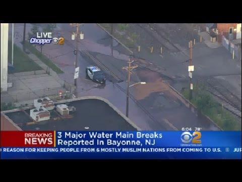 3 Major Water Main Breaks Reported In Bayonne, NJ