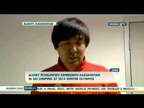Alexey Pchelintsev represents Kazakhstan in ski jumping at 2014 Winter Olympics