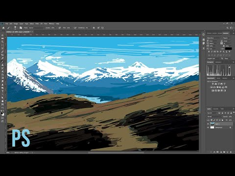 Simple Digital Painting Exercise for Beginners – Photoshop