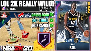 GALAXY OPAL BOL BOL GAMEPLAY! THE MOST UNREALISTIC AND CHEESIEST CARD IN NBA 2K20 MYTEAM