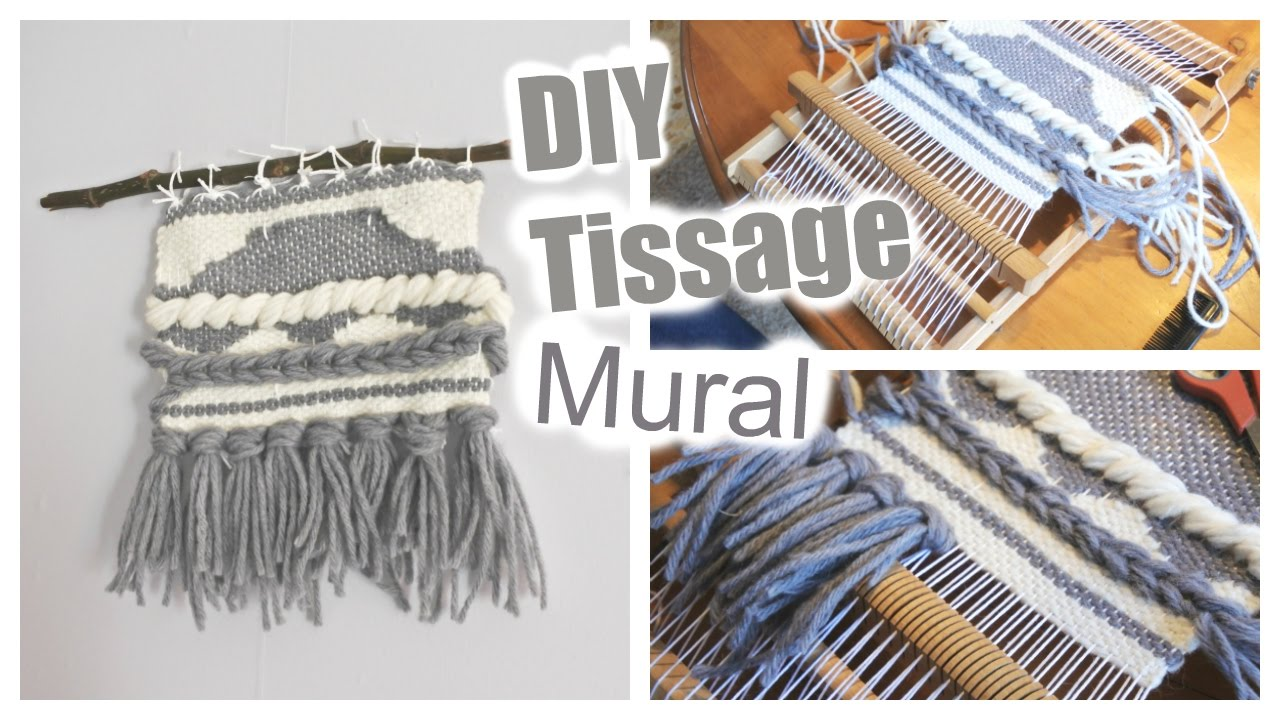 diy tissage mural youtube. Black Bedroom Furniture Sets. Home Design Ideas