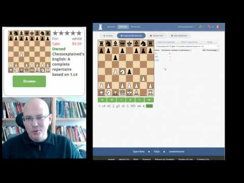 Chessexplained's English Opening 1 c4 released on Chessable