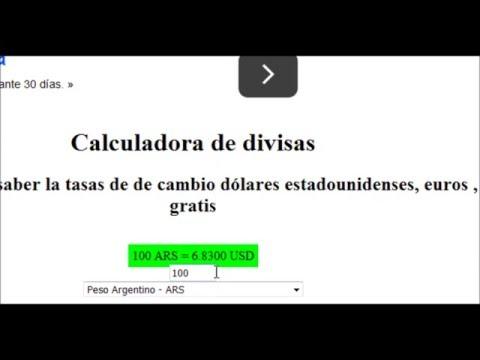 Cambiar Pesos Argentinos A Euros O Dolares