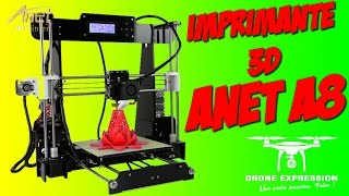 PRESENTATION UNBOXING REVIEW FRENCH 3D ANET A8 PRUSA I3 + CURA - GEARBEST