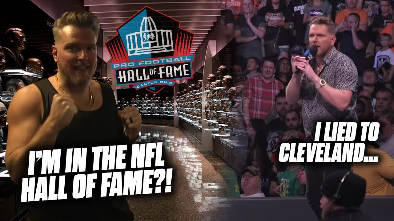 Pat McAfee Learns He's In The NFL Hall Of Fame..   Mr. Friday Night #12