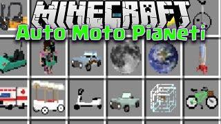 Minecraft ITA MOD: Cavalcare PIANETI! Auto,Moto,Biciclette ECC..
